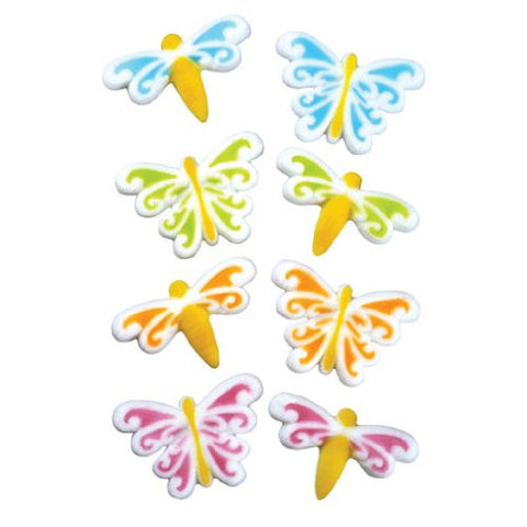 Butterfly & Dragonfly Asst Dec-Ons? Sugar Decorations