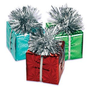 FOIL PRESENT ADORNMENT-LARGE