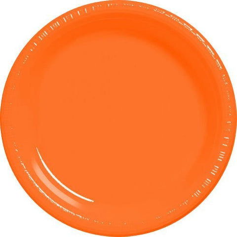 Amscan Big Party Pack Orange Plastic Lunch Plates