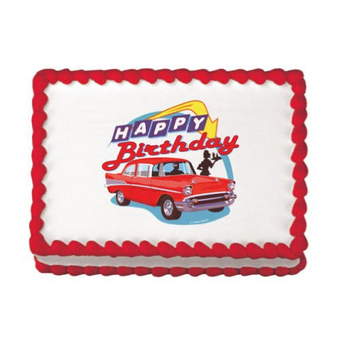 50's Hot Rod Birthday Edible Image Designs