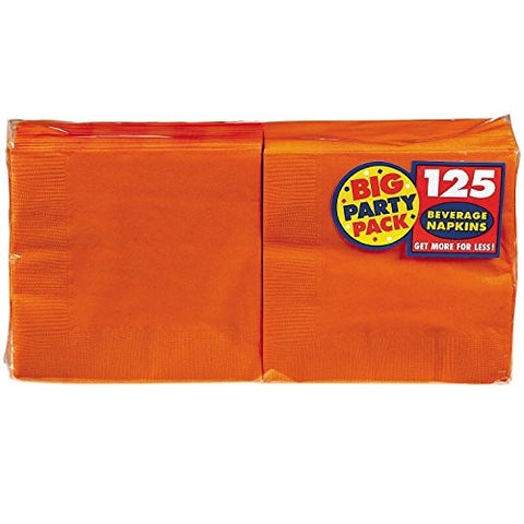 Amscan Big Party Pack Orange Beverage Napkins