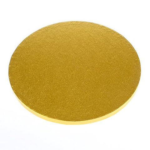 "Quick Pick Up 12"" Round Gold Cake Drum Single"