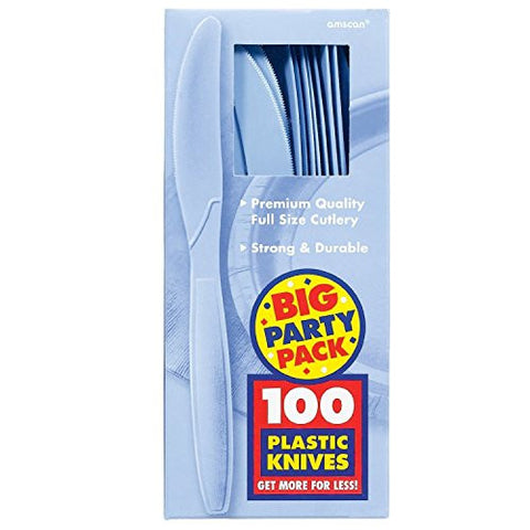 Amscan Big Party Pack Pastel Blue Plastic Knives