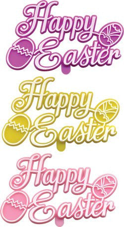 "Happy Easter Plaques - 3"" - 48 / Box"