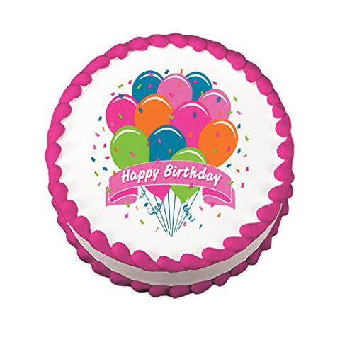Bright Birthday Balloons Edible Images