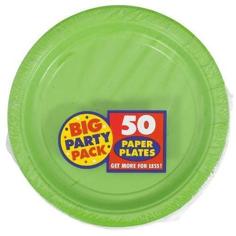 Amscan Big Party Pack Kiwi Paper Dinner Plates