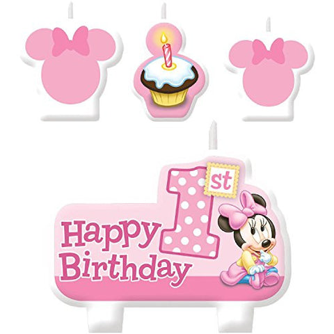 Minnie 1st Birthday Candles
