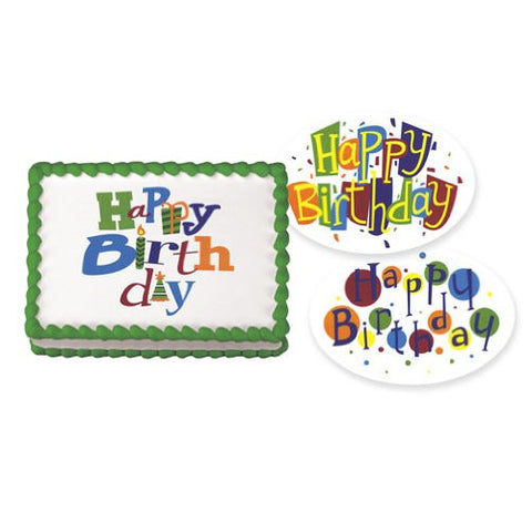 Birthday Fun Variety Pack Edible Image? Designs