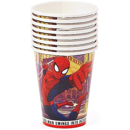 Ultimate Spiderman 9 oz Paper Cups