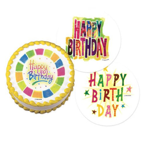 Happy Birthday Variety Pack Edible Image Designs