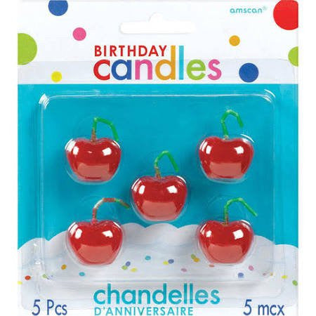 Cherry Toothpick Candles
