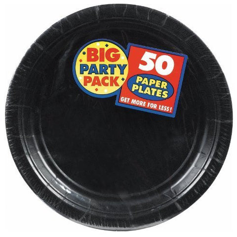 Amscan Big Party Pack Black Paper Dessert Plates