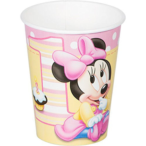 Minnie 1st Birthday 9 oz. Paper Cups