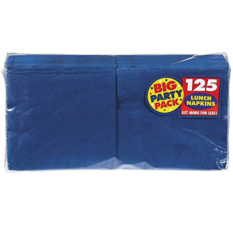 Amscan Big Party Pack Bright Royal Blue Luncheon Napkins