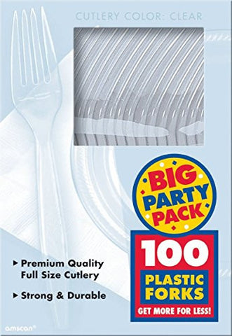 Amscan Big Party Pack Clear Plastic Forks