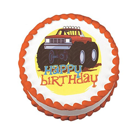 Big Truck Birthday Edible Image