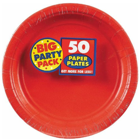 Amscan Big Party Pack Red Paper Dessert Plates