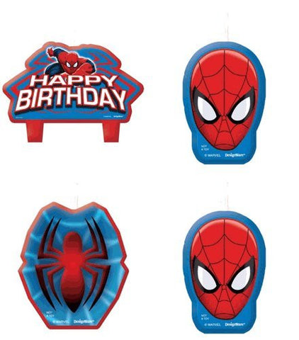 Ultimate Spiderman Birthday Candle Set