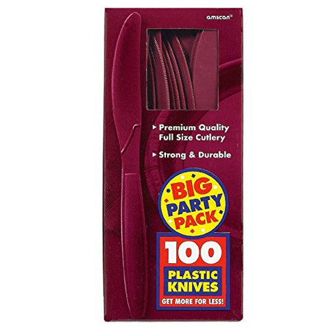Amscan Big Party Pack Berry Plastic Knives