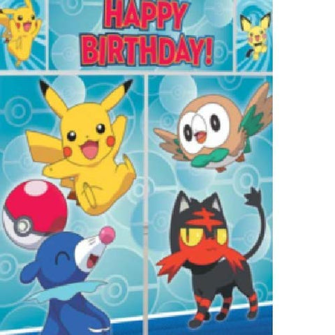 Pokemon Pikachu Wall Decorating Kit / 1 set of 5 pcs