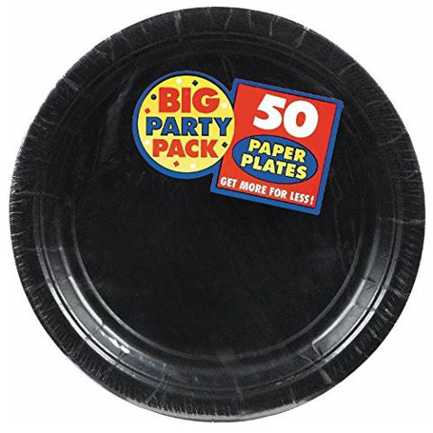 Amscan Big Party Pack Black Paper Dinner Plates