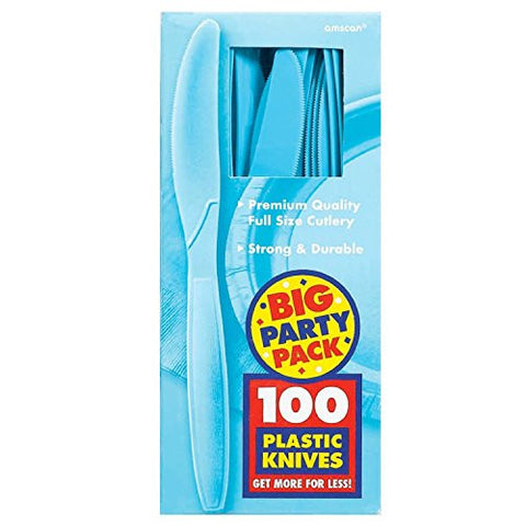 Amscan Big Party Pack Caribbean Blue Plastic Knives