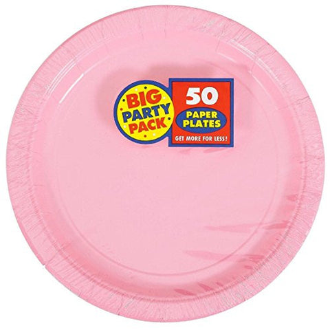 Amscan Big Party Pack New Pink Paper Dinner Plates