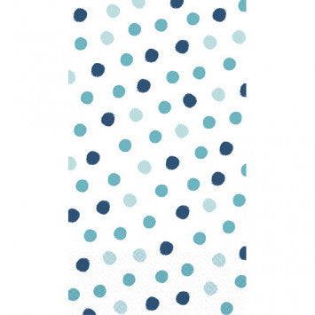 Whimsical Dot Blue ECO Guest Towels