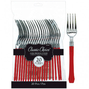 Classic Choice Premium Forks - Red