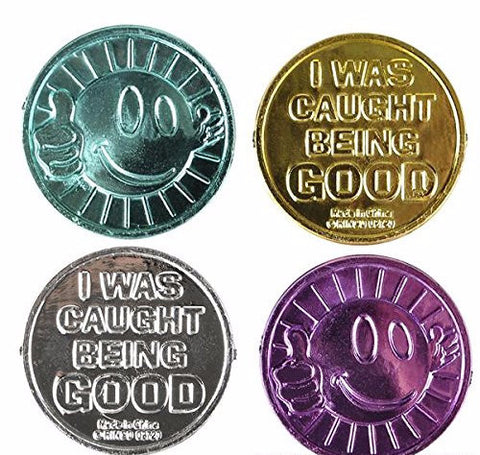 """I Was Caught Being Good!"" Plastic Coins - 144 Pieces"