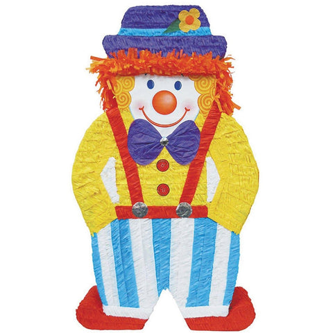Clown Giant Pinata - Blue/Yellow