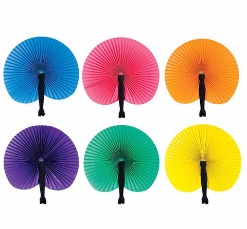 "10.5"" SOLID COLOR FOLDING FANS - 12 COUNT"