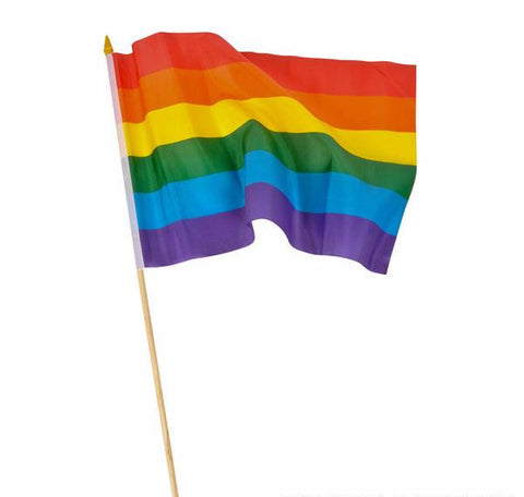 "12"" x 18"" RAINBOW FLAG - 12 COUNT"