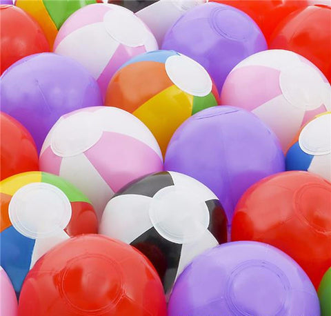 "25 PC 6"" BEACH BALL ASSORTMENT"