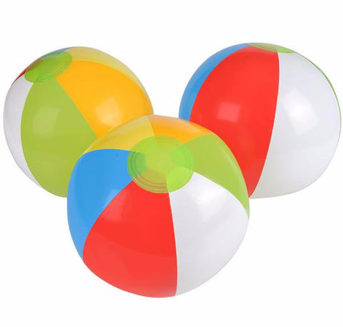 "12"" MULTICOLORED BEACH BALL - 12 COUNT"