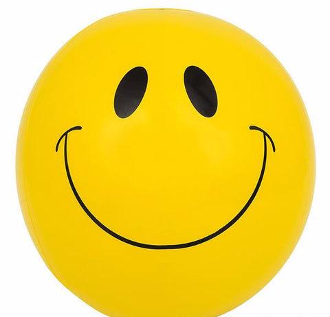 "16"" SMILEY FACE BEACH BALL INFLATE - 12 COUNT"