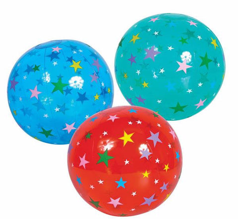 "16"" STAR BEACH BALL INFLATE - 12 COUNT"