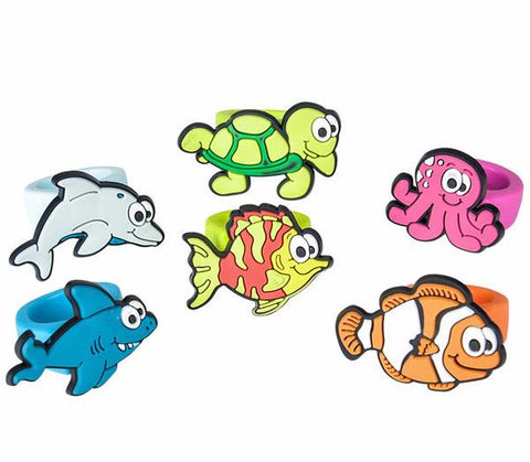 "1"" SEA LIFE RUBBER RINGS - 12 COUNT"