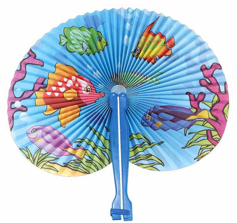 "10"" TROPICAL FISH FOLDING FAN - 12 COUNT"