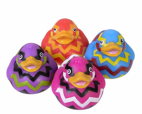 CHEVRON RUBBER DUCKIES - 12 PIECES
