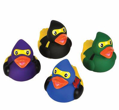 Ninja Warrior Rubber Ducks - 12 count