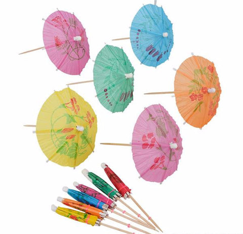 COCKTAIL PARASOL DRINK UMBRELLAS - 72 PIECES