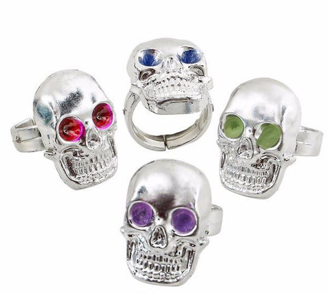 SILVER PLASTIC SKULL RING - 36 RINGS – Oasis Supply Company