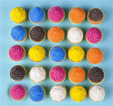 SCENTED CUPCAKE ERASER - 24 PIECES