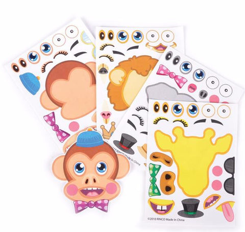 MAKE ZOO ANIMAL STICKERS - 12 COUNT                            (OVER-STOCK SALE)
