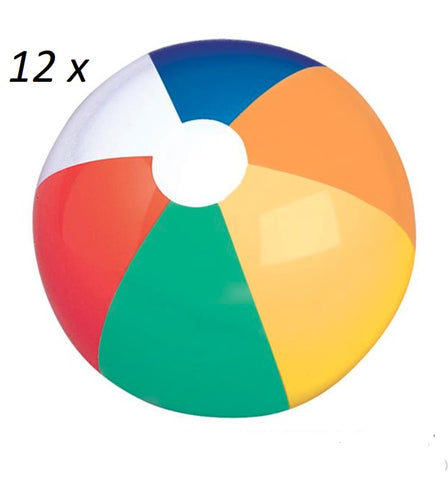 "JUMBO 24"" Multi Color Beach Ball / 12 count"