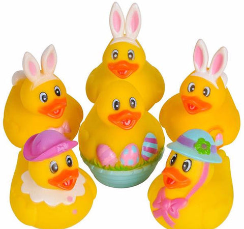 EASTER RUBBER DUCKIES - 12 COUNT