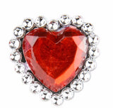 "1"" SPARKLE HEART RING - 24 PIECES"