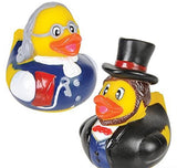 "2"" US Historical Figure Rubber Ducks - 12 COUNT"