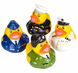 "2"" Armed Forces Rubber Ducks - 12 count"